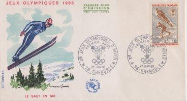 enveloppe jeux olympiques hiver 68